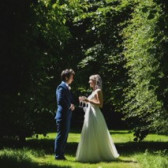 Garden wedding at Cosawes Barton
